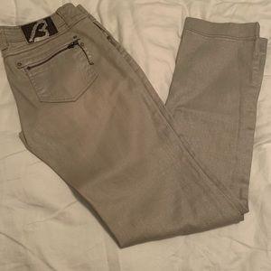 Buffalo metallic shimmer jeans.